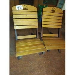 DUCKS UNLIMITED WOOD DECK CHAIRS