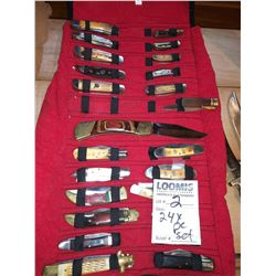 PERSONAL KNIFE COLLECTION APPROX 24 PCS