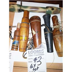 HANDMADE BRANDED DUCK CALL COLLECTION / LOT OF 6