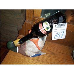 Resin Mallard Duck Bottle Holder, by River's Edge