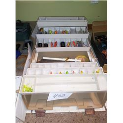 Large Tackle Box, w/ Tackle, Plugs, Spinbait