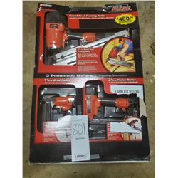 NEW ULTIMATE NAILER SET (3 X GUN SET) VALUE $460.00