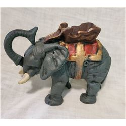 ELEPHANT Vintage High End Cast Iron Mechanical Bank, New, Still In Box