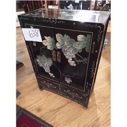 Two door Accent Lacquer Cabinet w/ Mother of Pearl Inlay