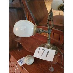 Antique Rembrandt Cast Bronze Genie Desk Lamp