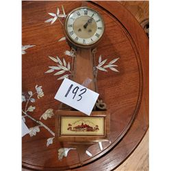 Vintage Banjo 8 Day Wall Clock, Jeweled, made in Germany by Daneker