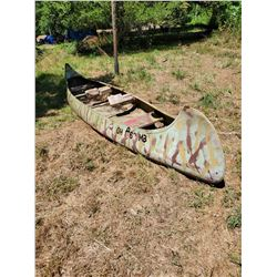 Aluminum Canoe, Approximately 17ft x 3ft wide