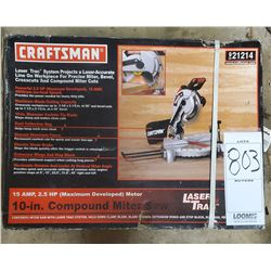 NEW CRAFTSMAN COMPOUND MITER  SAW SEALED IN THE CASE