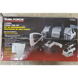 NEW 3 PC POWER TOOL SET IN THE SEALED CASE