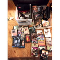 LARGE LOT OF DVDs & CDs