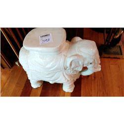 Elephant Garden Seat Porc