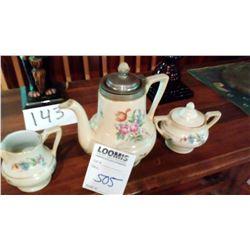 3 PC Royalite Tea Set, Royal Rochester