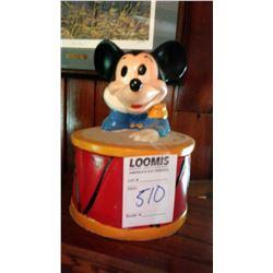 Mickey Mouse w/ Drum Ceramic Cookie Jar, by California Originals