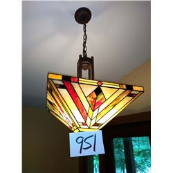 Frank Lloyd Wright Inspired Tiffany Style Ceiling Lighting Fixture