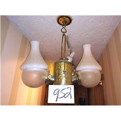 Vintage Double Hanging Lighting Fixture