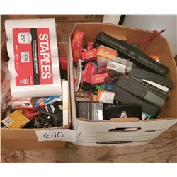 Box Full of Miscellaneous Office Supplies