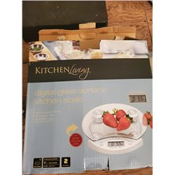 3 NEW Digital Glass Kitchen Scale, by Kitchen Living, Still in Boxes