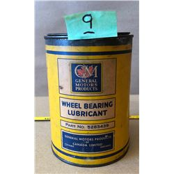 GENERAL MOTORS WHEEL BEARING LUBRICANT PAPER WRAP TIN - SOME CONTENTS