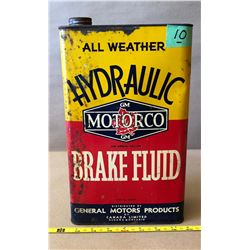 GENERAL MOTORS HYDRAULIC BRAKE FLUID TIN - FULL