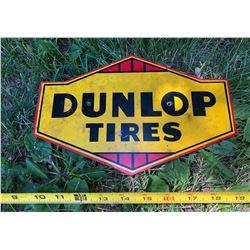 "DUNLOP TIRES SST SIGN - APPROX 10"""