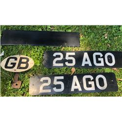 GREAT BRITAIN LICENCE PLATE LOT