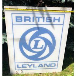 BRITISH LEYLAND ACRYLIC SIGN