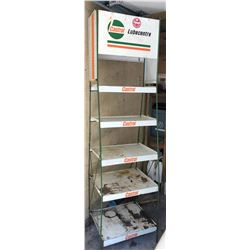 6' CASTROL TIN SUPPLY RACK