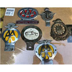 6 X AUTOMOBILE ORNAMENTS - CAA & AAA