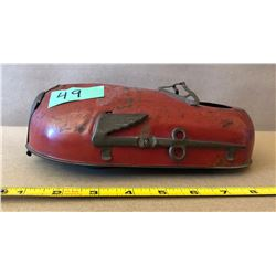 ANTIQUE WINDUP TIN CAR - INDIAN HEAD MOTORCYCLES LOGO ?