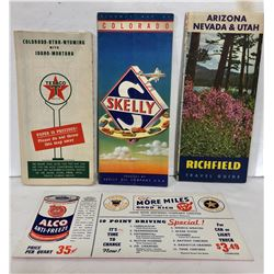 TEXACO, SKELLY & RICHFIELD USA MAPS & ALCO ANTI-FREEZE AD
