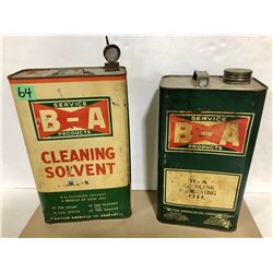 2 X BA 1 GAL TINS - CLEANING SOLVENT & PENETRATING OIL