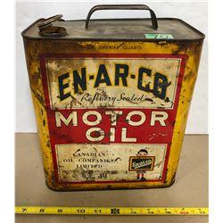 EN-AR-CO MOTOR OIL 6 QT TIN