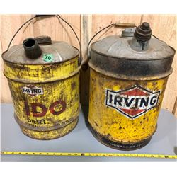 2 X IRVING 20 L FUEL CANS