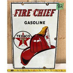 TEXACO FIRE CHIEF GASOLINE SSP SIGN