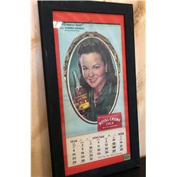 1950 ROYAL CROWN COLA FRAMED CALENDAR