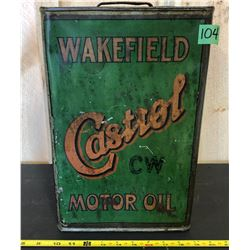 CASTROL WAKEFIELD 5 GAL OIL CAN