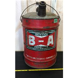 BA RED BOWTIE 5 GAL FUEL CAN