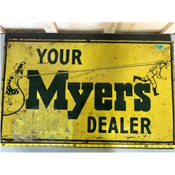 MYERS FARM SPRAYS DEALER SST SIGN