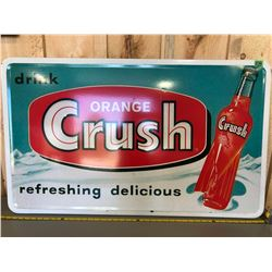 "ORANGE CRUSH STAINLESS STEEL REPRO SIGN - 25"" X 42"""