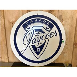1950's JAYCEES CANADA SSP SIGN - 30""