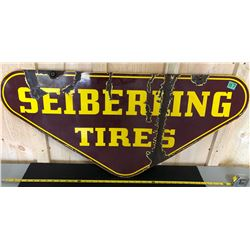 SEIBERING TIRES DSP SIGN - 1930 - 40's