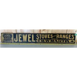 JEWEL STOVES & RANGES WOOD MERCHANTS SIGN