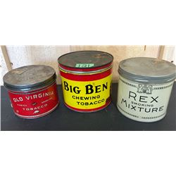 GR OF 3 VINTAGE TOBACCO TINS