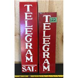 2 X TORONTO TELEGRAM MERCHANTS SIGNS