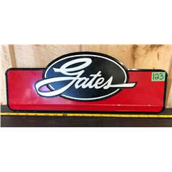 GATES AUTOMOTIVE BELTS EMBOSSED SST SIGN - 1965