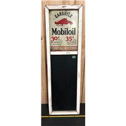 "MOBILOIL GARGOYLE REPRO CHALKBOARD - 14.5"" X 48"""