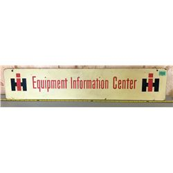 IH EQUIPMENT MASONITE SIGN - 35""