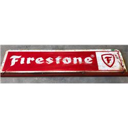 FIRESTONE SST MOUNTED DEALER SIGN WITH MICHELIN PAINTED ON BACK SIDE