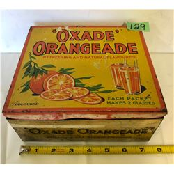 1950's OXADE ORANGE DRINK CAN