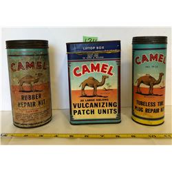 3 X CAMEL TIRE / TUBE REPAIR KITS - SOME CONTENTS